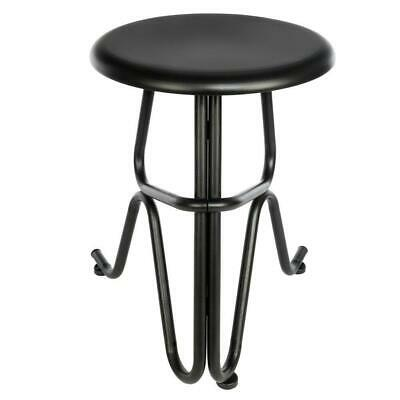 Round Industrial Antique Style Bar Stools Seat iron Chair Black