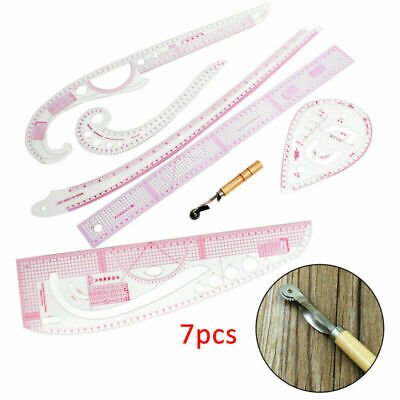 7x Sew French Curve Metric Ruler Multi-function Dress-making Tailor Tool Rulers