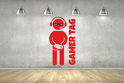 EYE Personalised Name Gamer Gaming Wall Art Sticker ANY Colour Fort Decal Nite