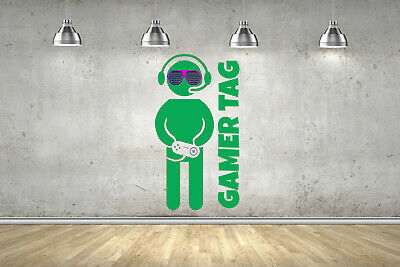 SHADE Personalised Name Gamer Gaming Wall Art Sticker ANY Colour Fort Decal Nite