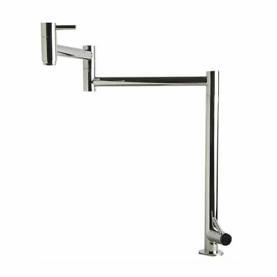 ALFI AB5018-PSS Retractable Pot Filler Kitchen Faucet, Polished Stainless Steel