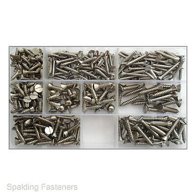 Slotted Countersunk Self Tapping Screws A2 Stainless Steel No6 No8 No10