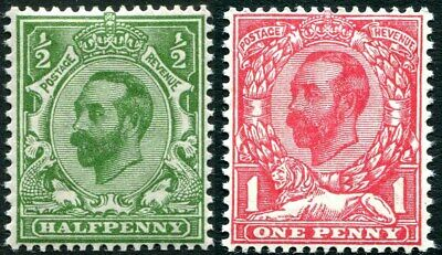 1911-1912 Downey Heads Sg 321-Sg 333 Average Mounted Mint Single Stamps