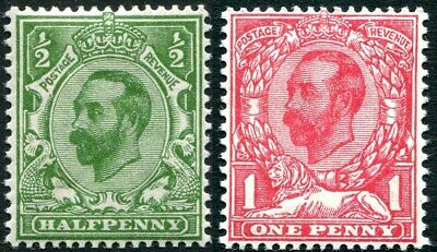 1911-1912 Downey Heads Sg 321-Sg 333 Lightly Mounted Mint Single Stamps