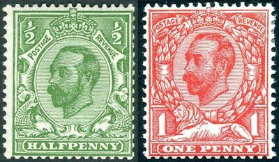 1912 Imperial Crown Die 2 Sg 338-Sg 343 Unmounted Mint Condition Single Stamps