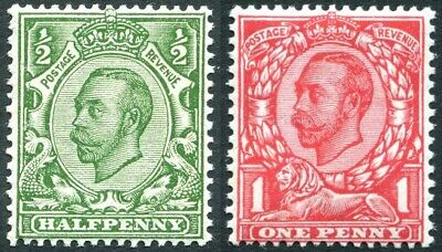 1912 Multiple Cypher Die 2 Sg 346-Sg 350c Unmounted Mint Single Stamps