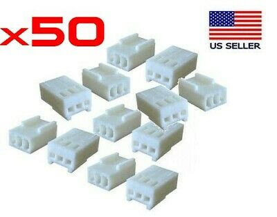 Lot of 50pc 3-Pin 2510 Molex Style Crimp Housings (2.54mm)