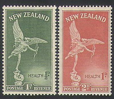 New Zealand 1947 Health/Welfare Fund/Eros/Statue 2v set (n35390)