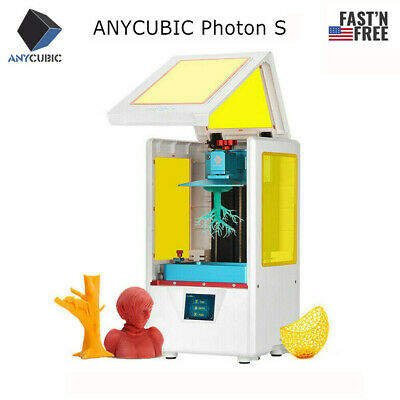 US ANYCUBIC Photon S SLA LCD 3D Printer 405nm UV Resin Light-Curing Dual Z-axis