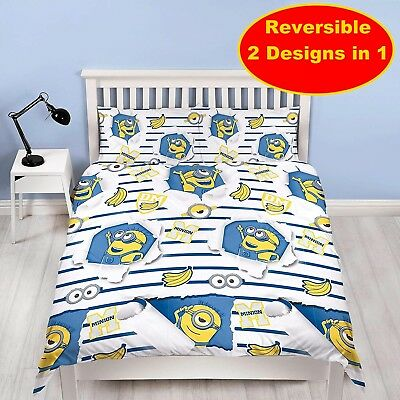 Despicable Me Awesome Double Duvet Quilt Cover Set Boy Bedroom Gift Children
