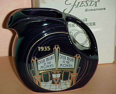 """New In Box! 1935 """"Dish Night at the Movies"""" PLUM Juice Pitcher -HLCCA 2003"""