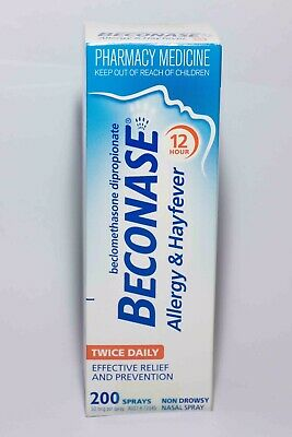 BECONASE NON DROWSY NASAL SPRAY 200 SPRAYS ALLERGY & HAYFEVER Exp Jan 2021