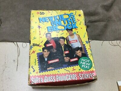 New Kids on the Block 1989 Box of 36 Sealed Topps Super Gloss Photo Card Package