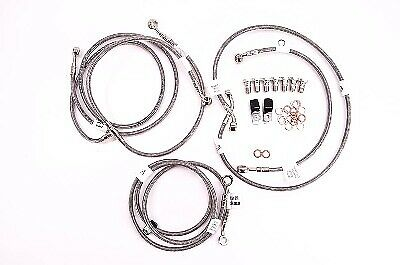 Clear  D625-3 08-09 ZG1400 Concours ABS Galfer 3-Line Front Brake Line Kit