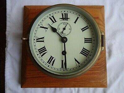 Antique Vintage Ships Marine Clock Brass Made In England