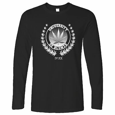 Stoner Long Sleeve University of Blunts IV:XX 420 Logo Weed Culture Marijuana