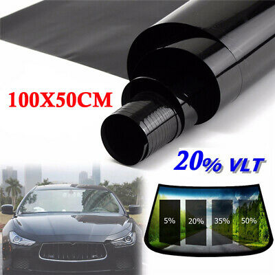 Universal Auto/Car Home Office Glass Windows VLT 20% Tint Film Sunshade 50*100cm