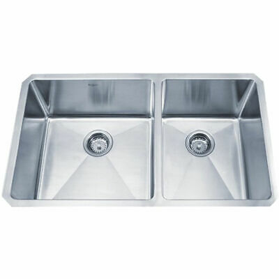 Kraus KHU103-33 33 inch Undermount 60/40 Double Bowl 16 gauge Stainless Steel