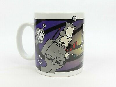 "Dilbert Ceramic Coffee Mug ""Danger! Stupidity vortex is growing more powerful"""
