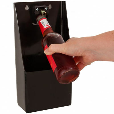 Professional Stand Up Bar Bottle Opener & Catcher Crown Top Opener Wall Mounted