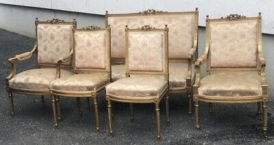Superb Quality French Gilt Wood Salon Suite, 19th Century, Couch, Sofa, Settee