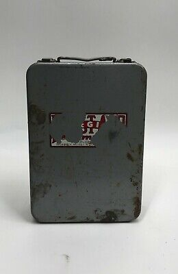 Vintage Metal First-Aid Kit Case *No Items Included*