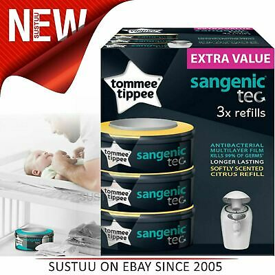 Tommee Tippee Sangenic Tec Nappy Disposal Refill Cassettes x3¦Hygiene Protection