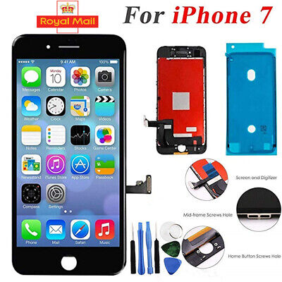 Black For iPhone 7 Screen Replacement LCD 3D Touch Digitizer Display Assembly UK