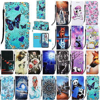 Premium Leather Wallet Flip Case For Huawei Honor 8A Mate 20 Lite P Smart 2019