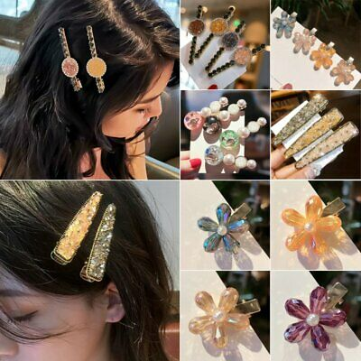 Womens Crystal Metal Hair Clip Hairband Bobby Pin Barrette Hairpin Headdress New