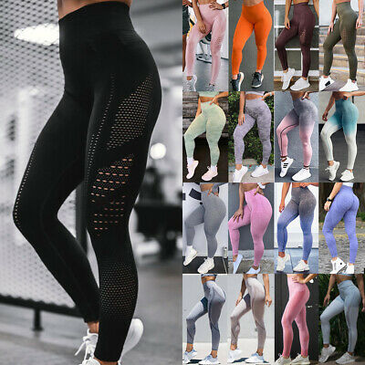 Womens Seamless Yoga Pants Push Up Leggings Sports Fitness Trousers Activewear A