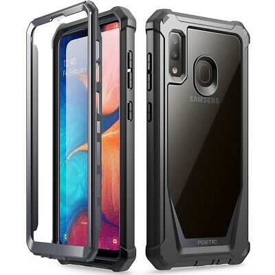 Samsung Galaxy A20,Poetic [Ultra Hybrid] Bumper Shockproof Cover Case Black