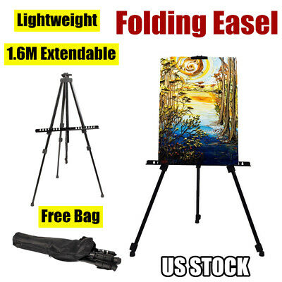 Folding Telescopic Adjustable Artist Painting Easel Tripod Stand Drawing Board