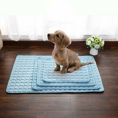 Pet New Summer Cooling Mat Cold Gel Pad Comfortable Cushion For Dog Cat Puppy Uk