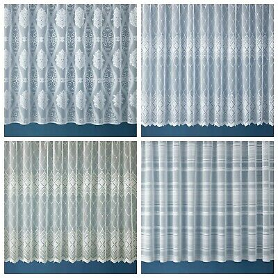 Net Lace Curtain Window Room Kitchen Caravan Slot Top Curtains Made to Measure