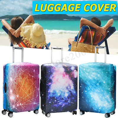 """18""""-32"""" Starry Sky Elastic Luggage Suitcase Bags Cover Protector Graffiti Style"""