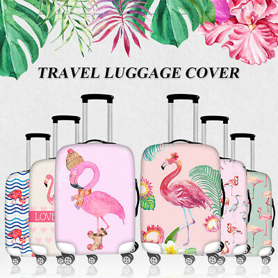 Trendy Elastic Pink Flamingo Suitcase Cover Luggage Protective Case Bag Covers