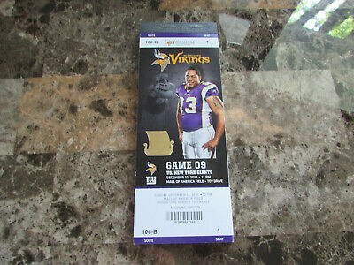 Minnesota Vikings Vs New York Giants 2010 NFL Tickets 34 Suite + 6 More Tics