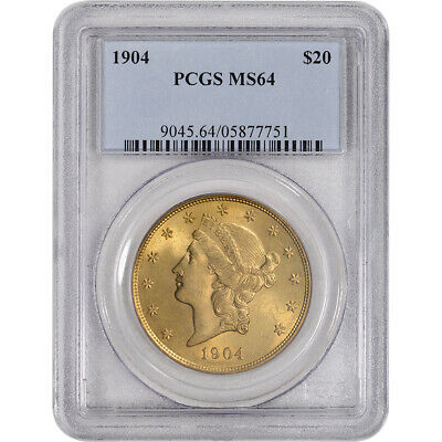 US Gold $20 Liberty Head Double Eagle - PCGS MS64 - Random Date