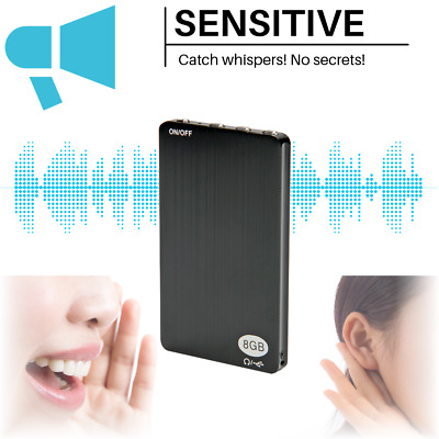 New Mini Audio Recorder Voice Activated Listening Device 96 Hrs 8GB Bug OZ