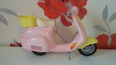 *Barbie Dolls Moped Pink & Yellow Bike*Please Read*
