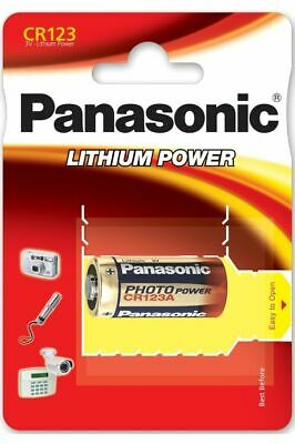 Panasonic 1 pile Lithium 3 volt CR123A Lithium Power Appareil Photo Jouet Neuf