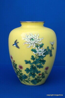 Japanese chinese CLOISONNE VASE MEIJI QING or REPUBLIC  PROVENANCE BISHTON HALL