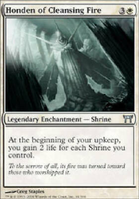 White Champions of Kamigawa Mtg Magic Uncommon 4 FOIL Honden of Cleansing Fire kaartspellen Magic: The Gathering, MTG)
