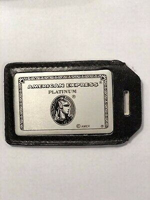 American Express Platinum Luggage Tag Circa 1980s