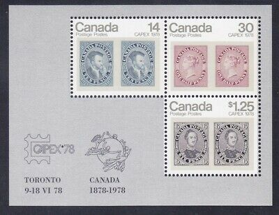 Canada 756a MNH 1978 CAPEX Stamp on Stamp Souvenir Sheet VF