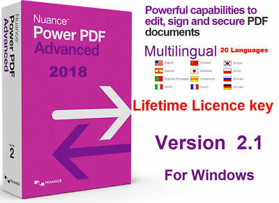 Nuance Power PDF Advanced Key- Edit, Sign ,Secure PDF documents-Digital Delivery
