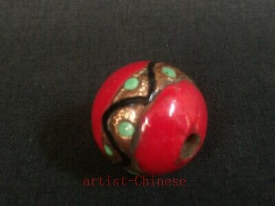 Unique Collection Old Chinese Pretty Glaze eye Bead Pendant Necklace Decoration