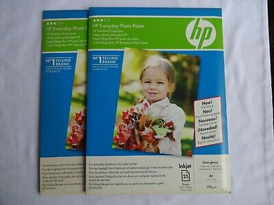 Hp Everyday Photo Paper A4 210 Mm X 297 Mm 170 G/M Semi Glossy 50 Sheets