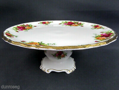 Old Country Roses Comport / Taza /cake Stand, Gc, 1973-93, England, Royal Albert